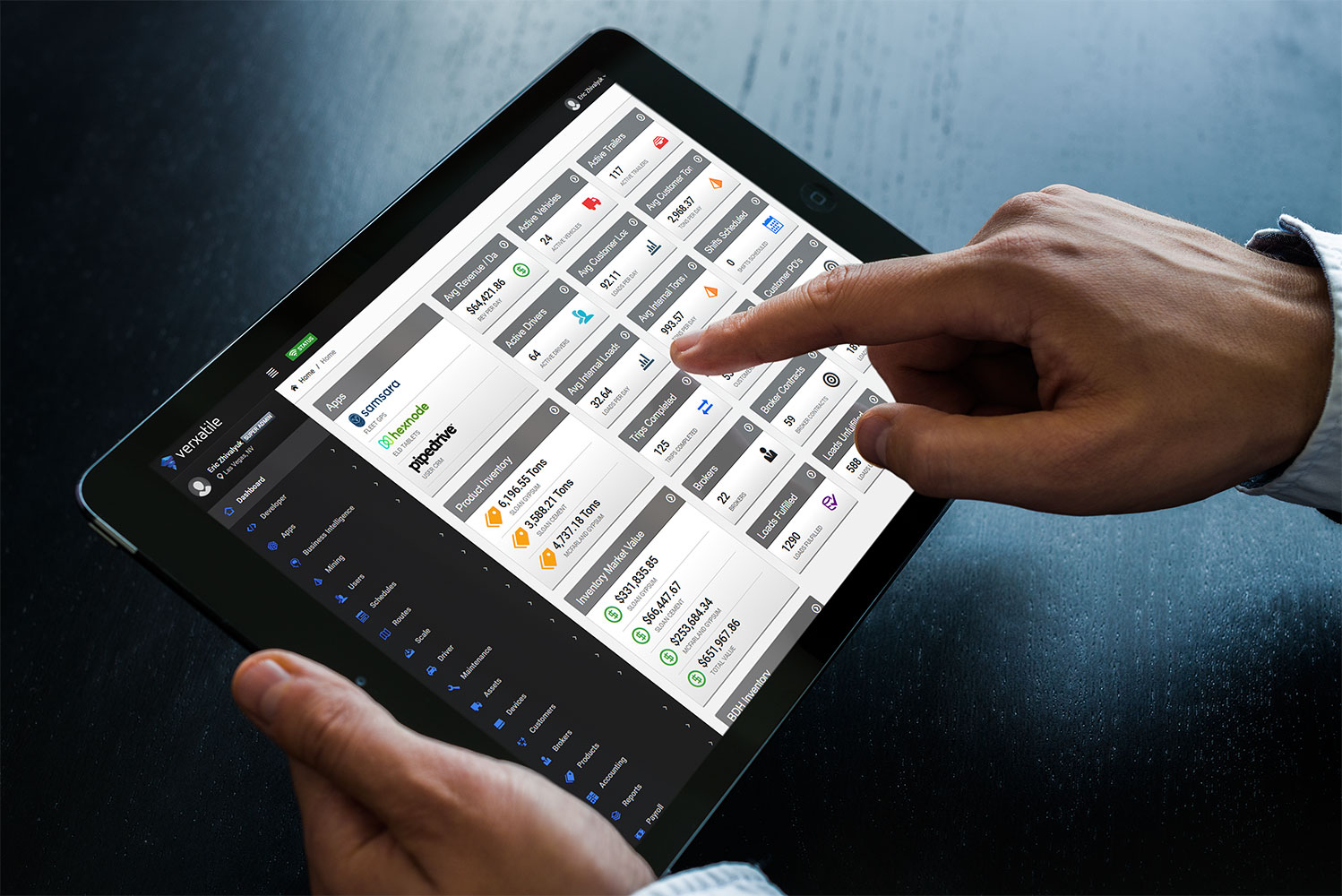 VXTL Business Software on a Tablet